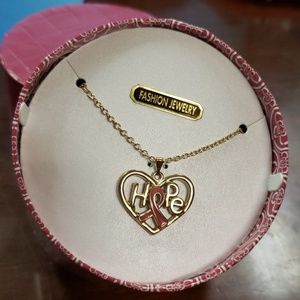 Hallmark Breast Cancer Awareness Necklace